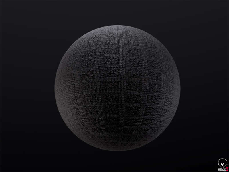 Black Fabric Texture 1 by Anthony Boyd Graphics