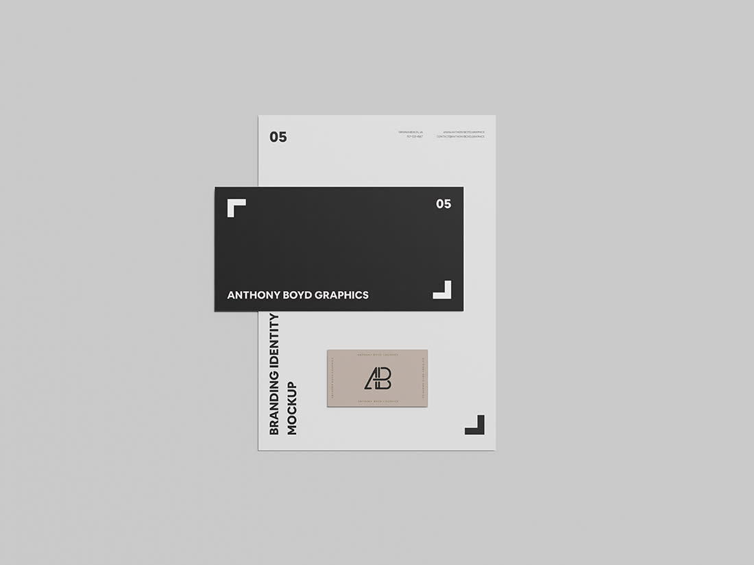 Branding Identity Mockup Vol 6 by Anthony Boyd Graphics
