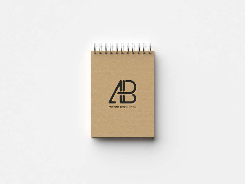 Modern Notebook Mockup by Anthony Boyd Graphics