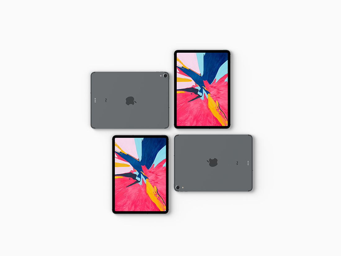 Top View iPad Pro 2018 Mockup Vol 2 by Anthony Boyd Graphics