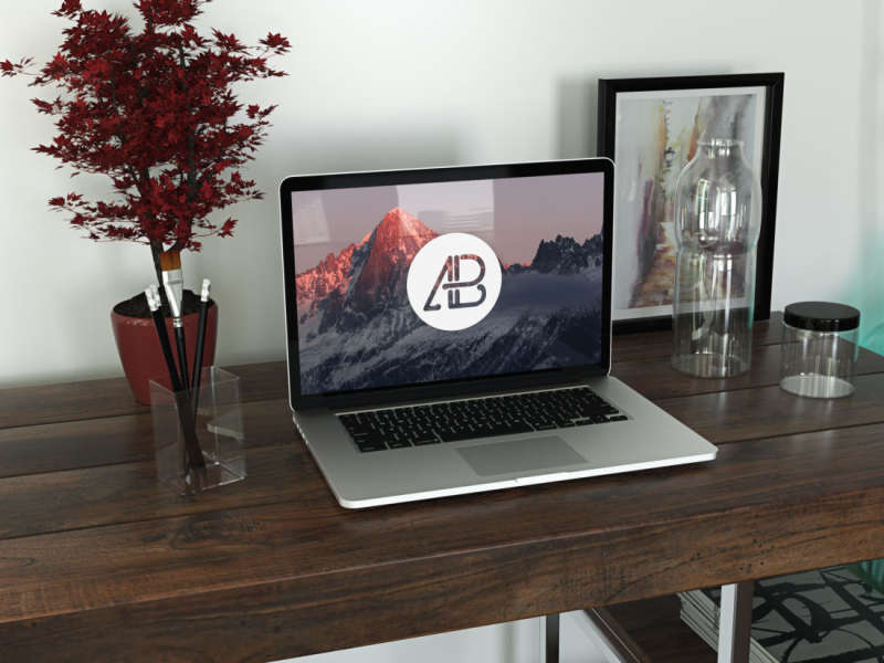 Realistic Retina Macbook Pro Mockup Vol.3 by Anthony Boyd Graphics