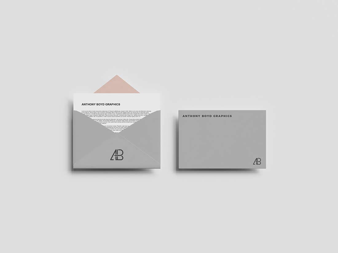 Top View Envelope Mockup by Anthony Boyd Graphics