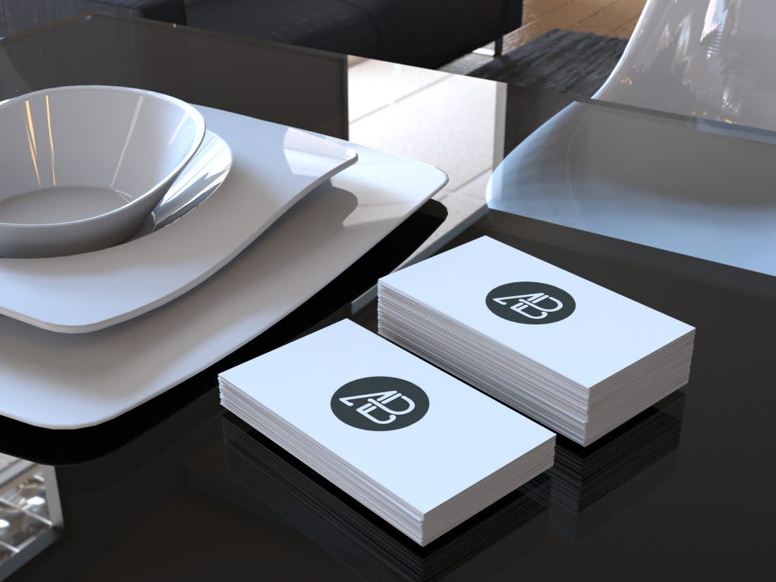Realistic Business Card Mockup by Anthony Boyd Graphics