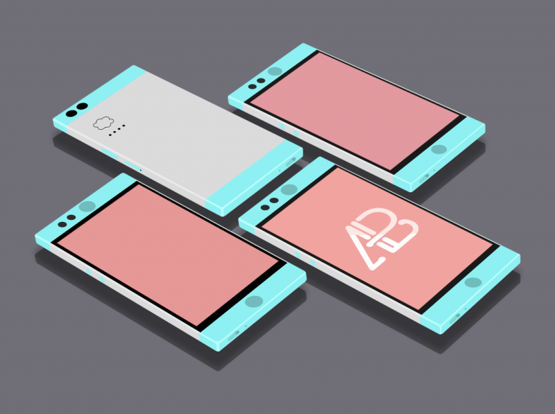 Flat Nextbit Robin Mockup Vol.2 by Anthony Boyd Graphics