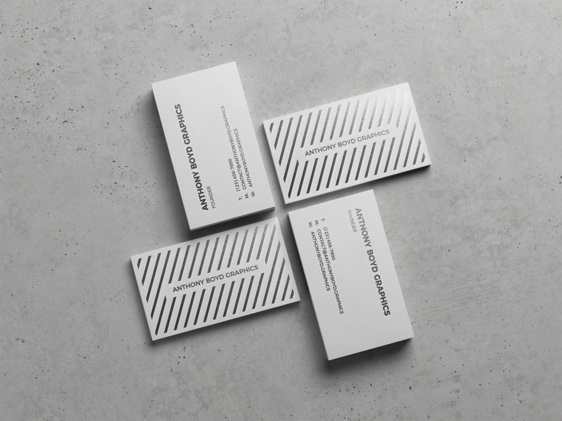 Modern Business Card Showcase Mockup by Anthony Boyd Graphics