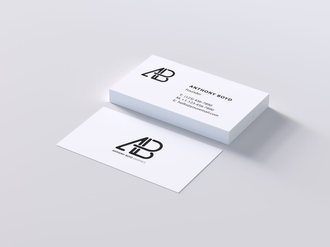 Modern Business Card PSD Mockup by Anthony Boyd Graphics