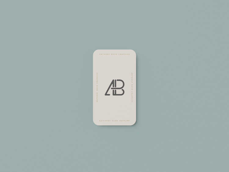Vertical Rounded Business Card Mockup #1 by Anthony Boyd Graphics