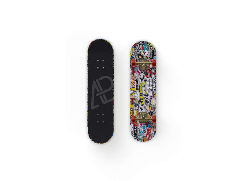 Front and Back Customizable Skateboard Mockup by Anthony Boyd Graphics