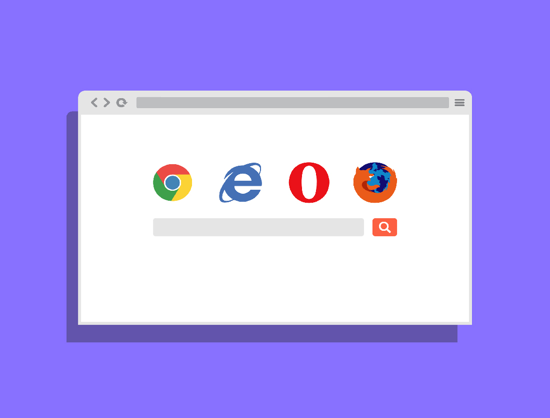 2D Flat Browser Mockup by Anthony Boyd Graphics