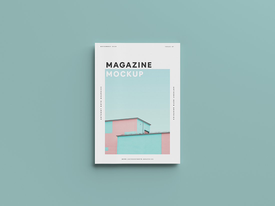 Top View Magazine Mockup by Anthony Boyd Graphics