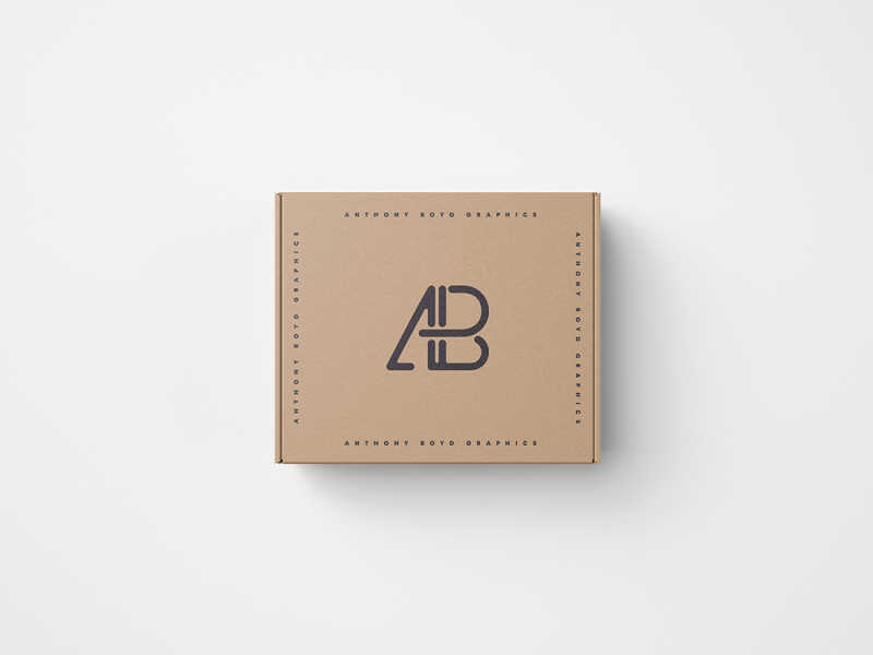 Top View Box Mockup #2 by Anthony Boyd Graphics