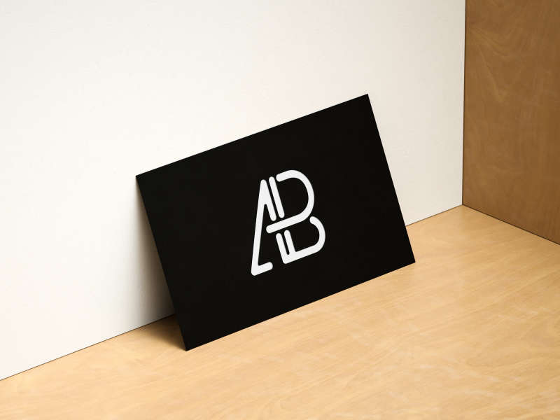 Modern Horizontal and Vertical Business Card Mockup by Anthony Boyd Graphics