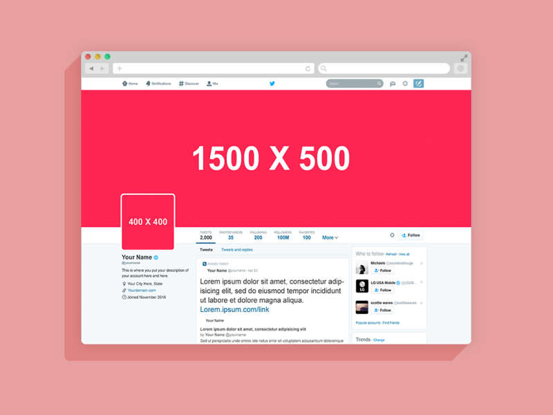 2016 Twitter Page Mockup by Anthony Boyd Graphics