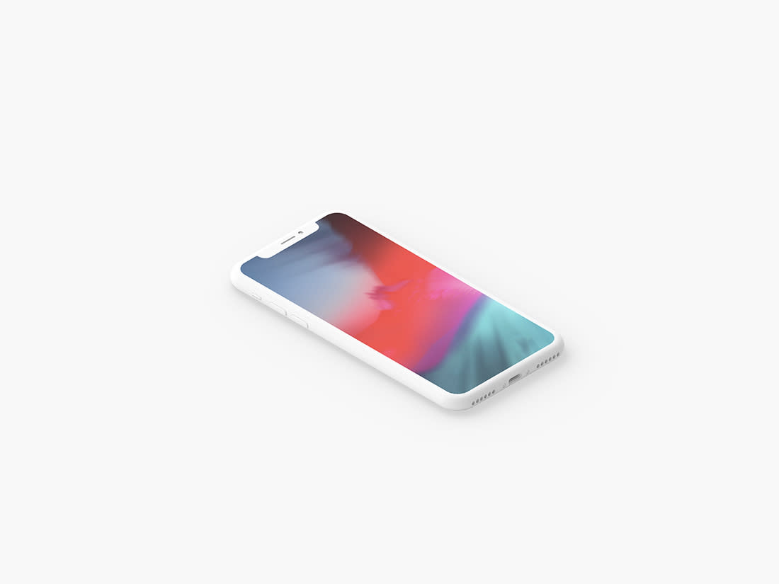 Minimal Clay iPhone X Presentation Mockup Set by Anthony Boyd Graphics