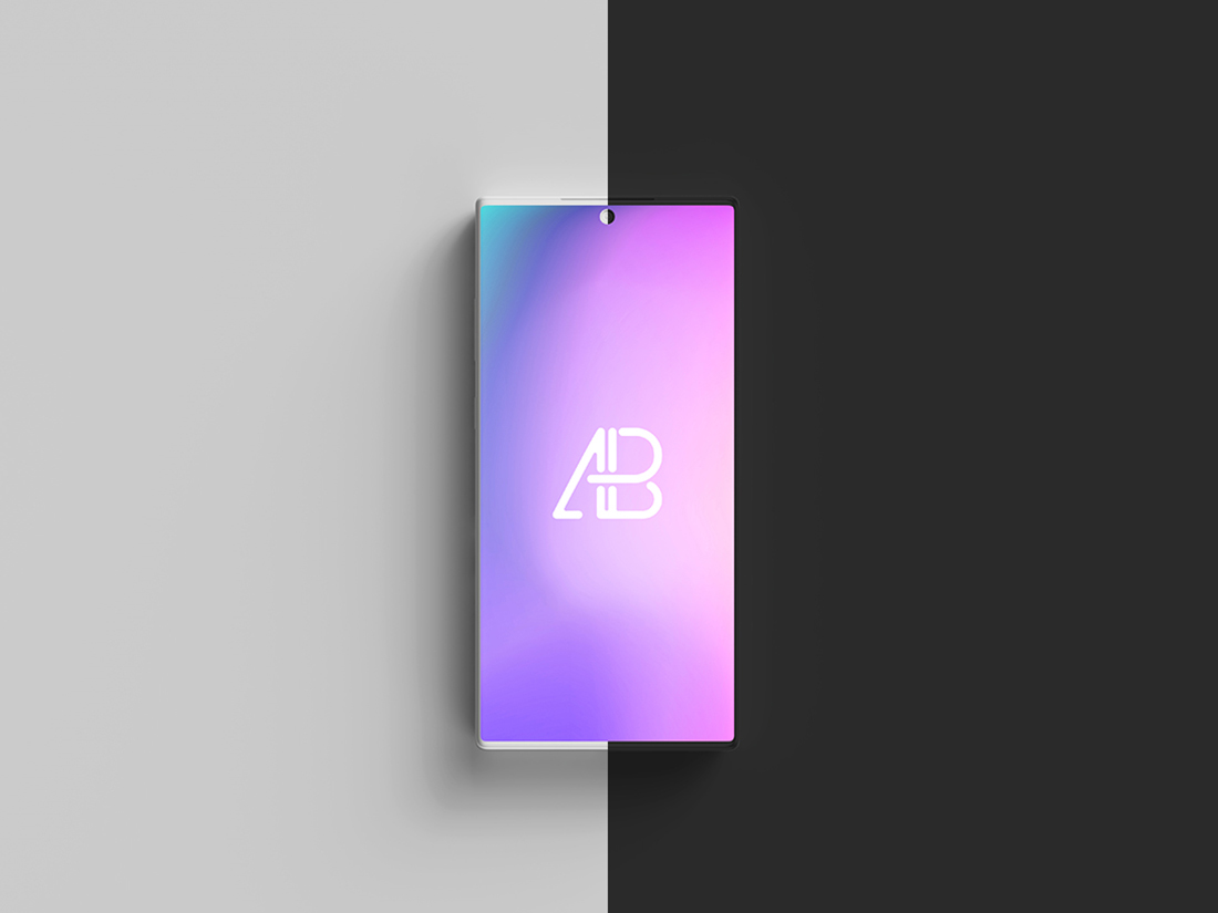 Clay Galaxy Note 10 Pro Top View Mockup | Anthony Boyd Graphics