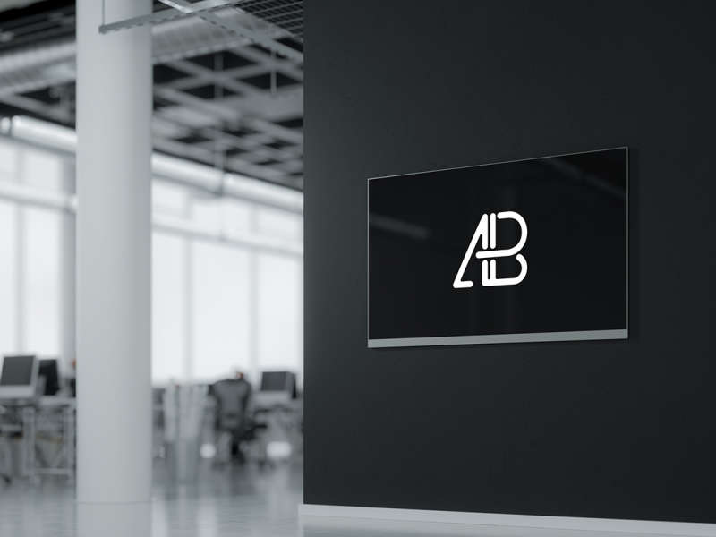 Modern Digital Signage Mockup by Anthony Boyd Graphics