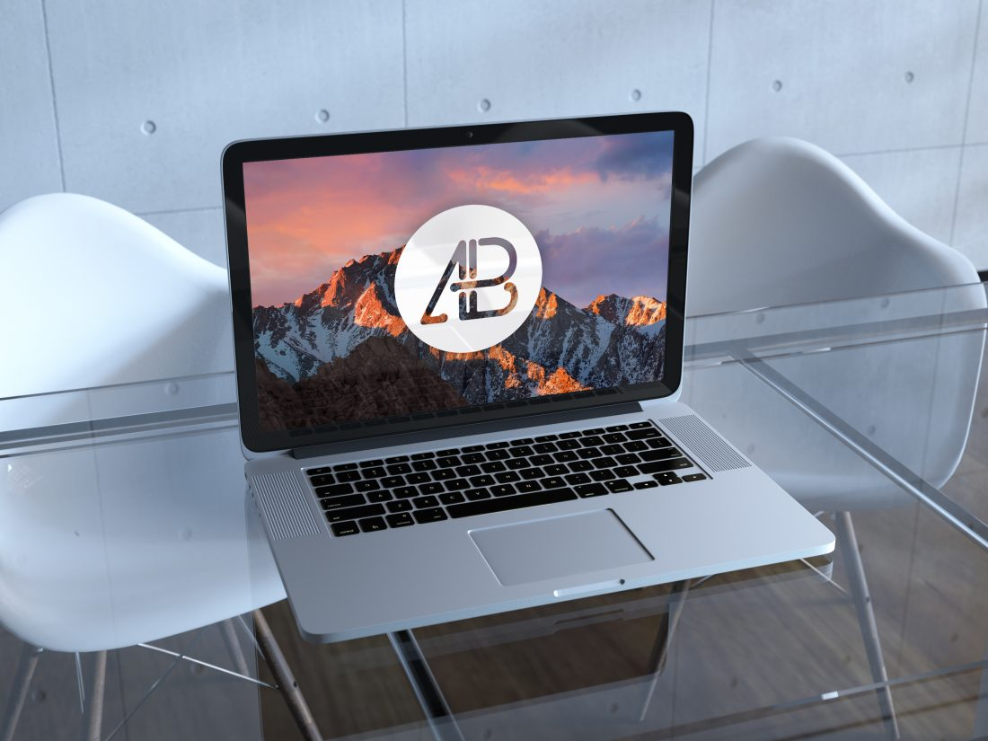 Realistic Retina Macbook Pro Mockup by Anthony Boyd Graphics