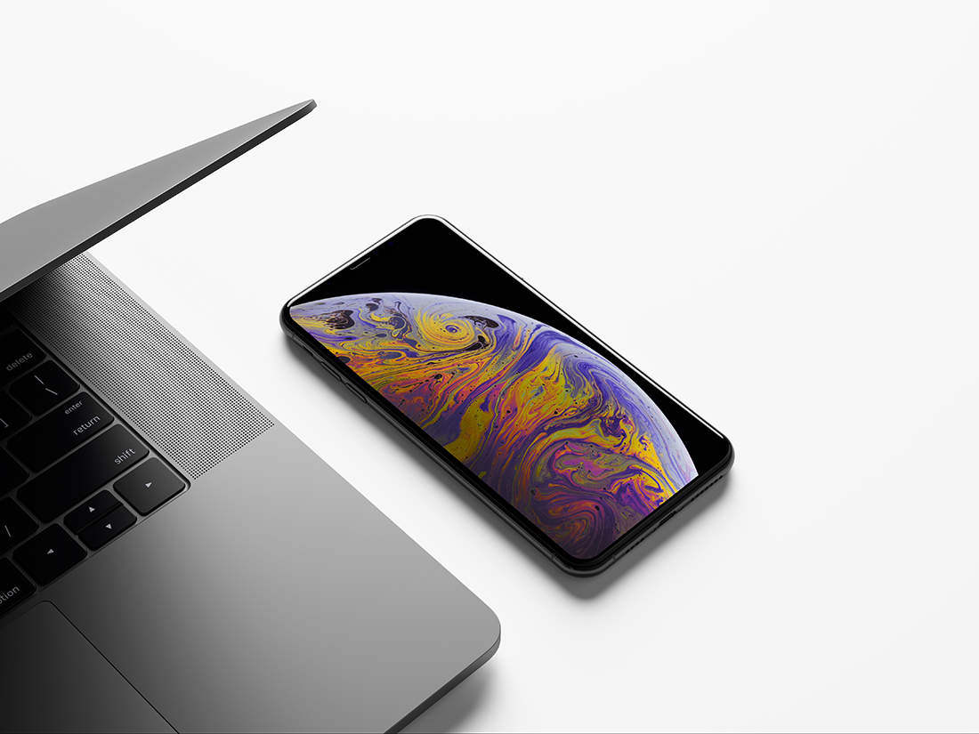 iPhone XS Max Mockup by Anthony Boyd Graphics