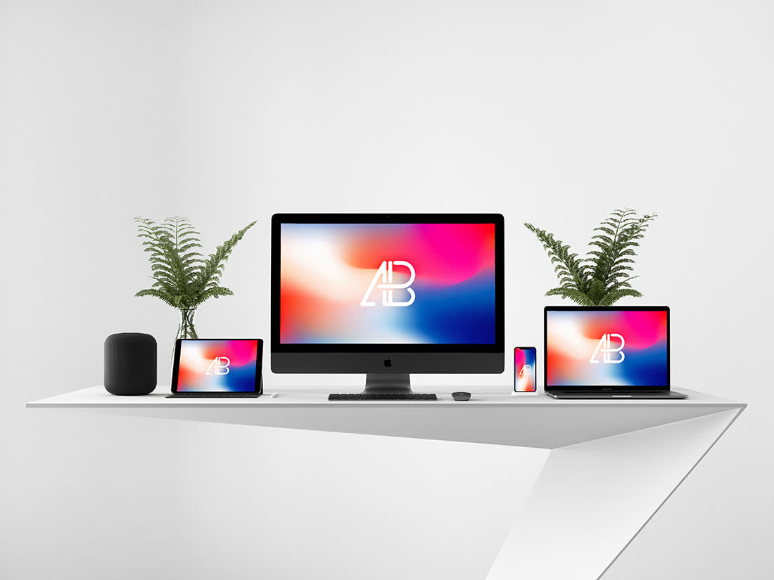Modern Responsive Showcase Mockup by Anthony Boyd Graphics