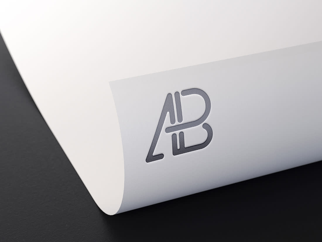 Metallic Foil Logo Mockup by Anthony Boyd Graphics