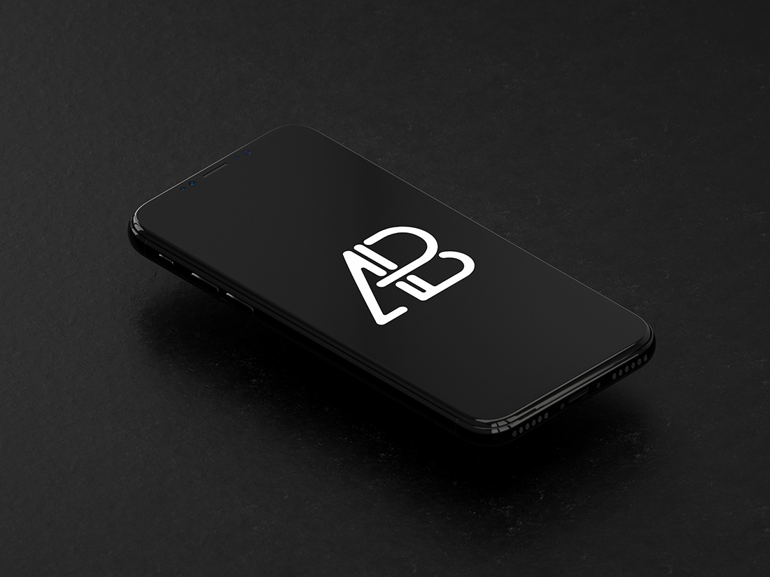Isometric iPhone X Mockup by Anthony Boyd Graphics