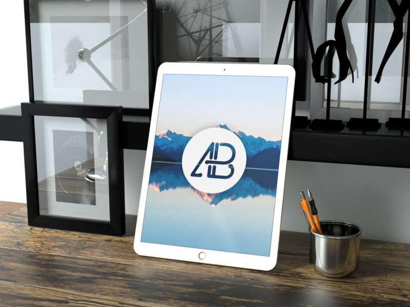 Realistic 12.9 Inch iPad Pro Mockup by Anthony Boyd Graphics