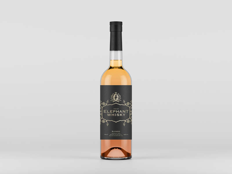 Front View Liquor Bottle Mockup by Anthony Boyd Graphics