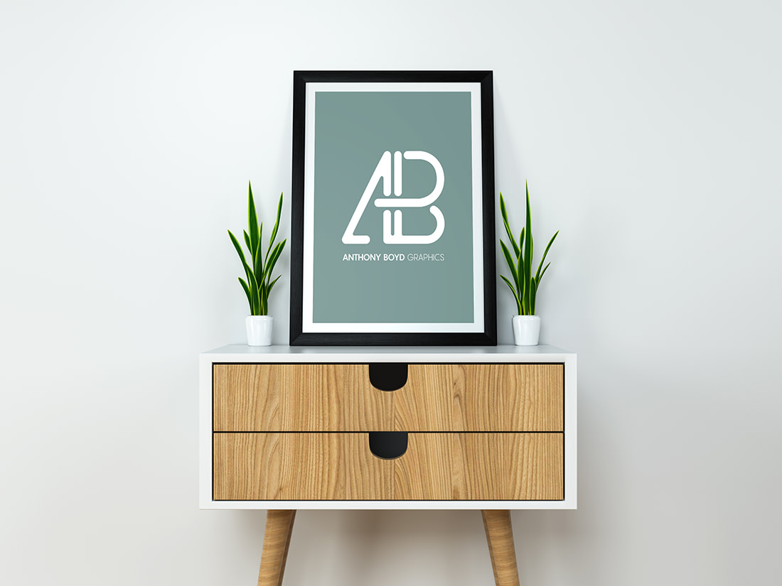 Modern Poster Mockup PSD by Anthony Boyd Graphics