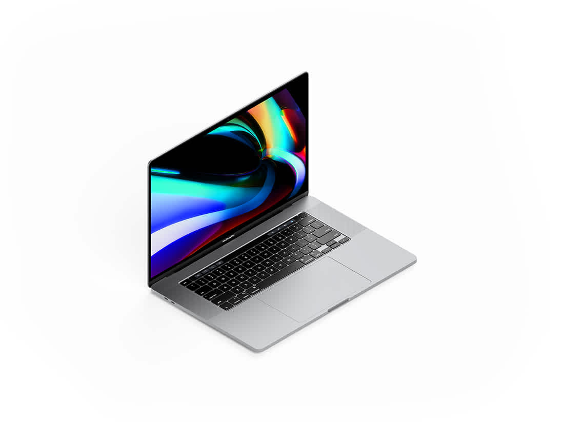 Isometric MacBook Pro 16 Inch Mockup by Anthony Boyd Graphics