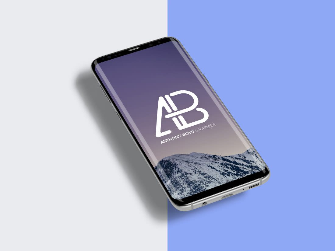 Samsung Galaxy S8 Plus Mockup PSD by Anthony Boyd Graphics