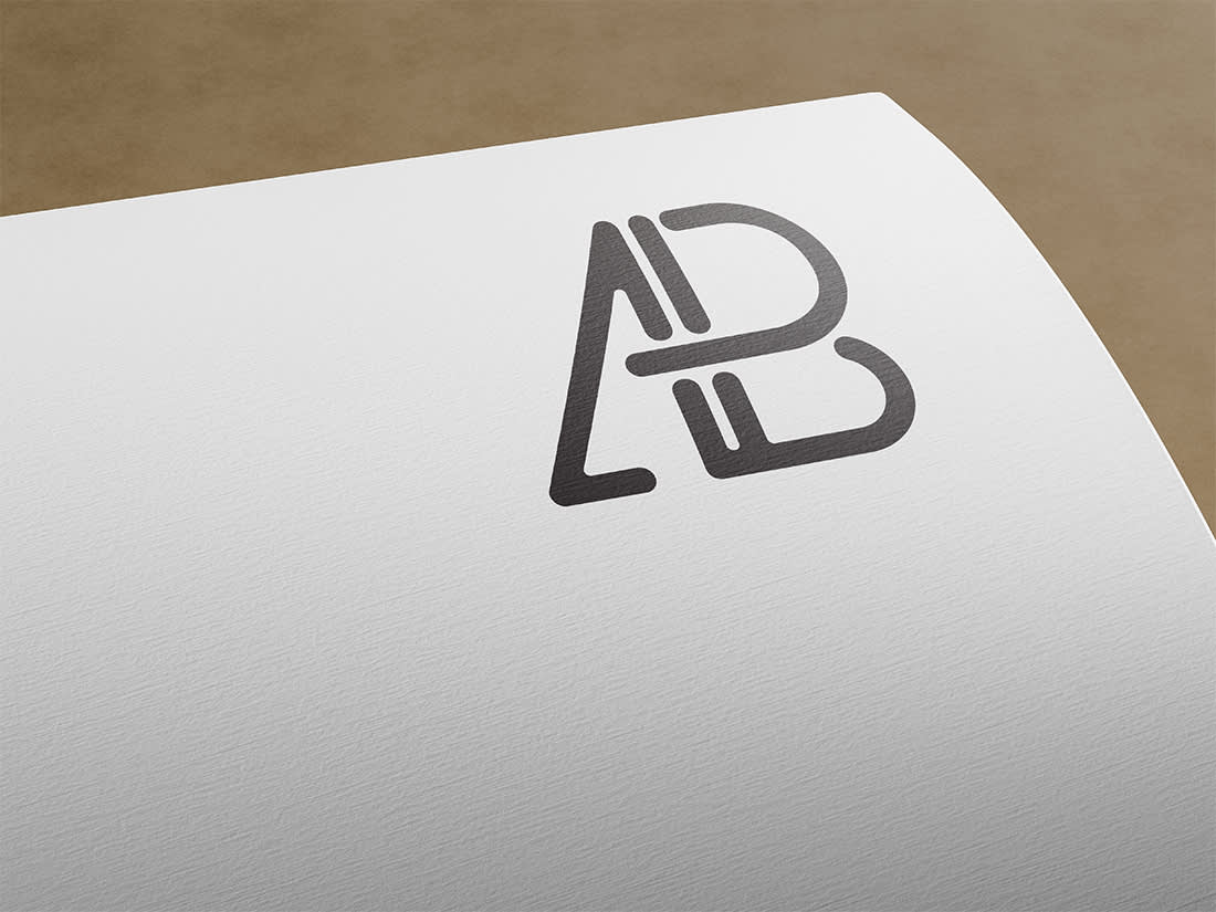 Paper Logo Mockup Vol.3 by Anthony Boyd Graphics