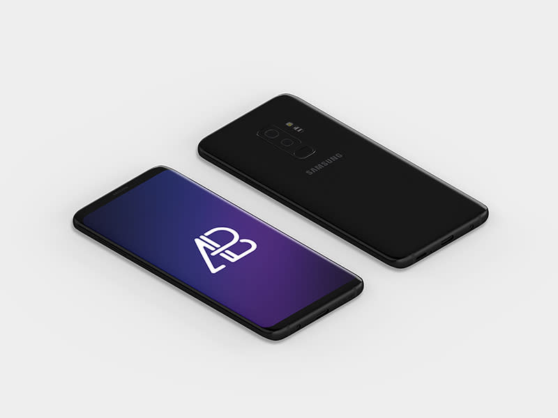 Isometric Samsung Galaxy S9 Plus Mockup By Anthony Boyd Graphics