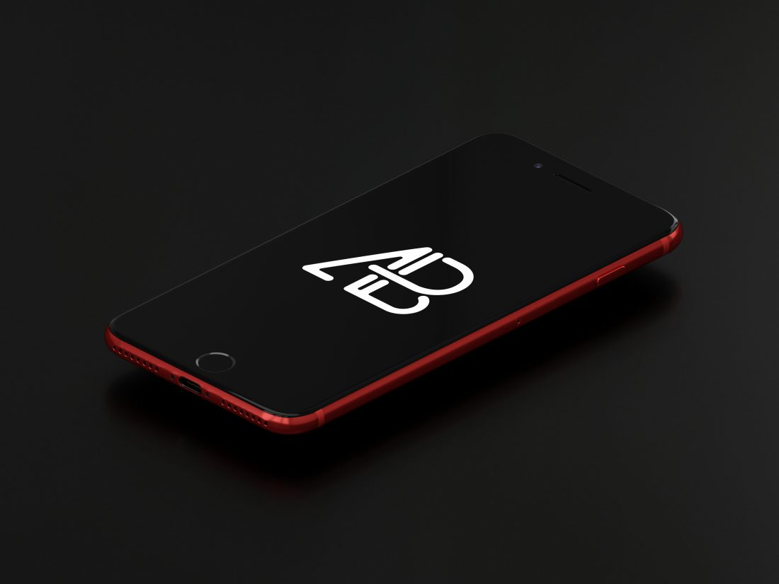 Product Red iPhone 7 Plus Mockup Vol.3 by Anthony Boyd Graphics