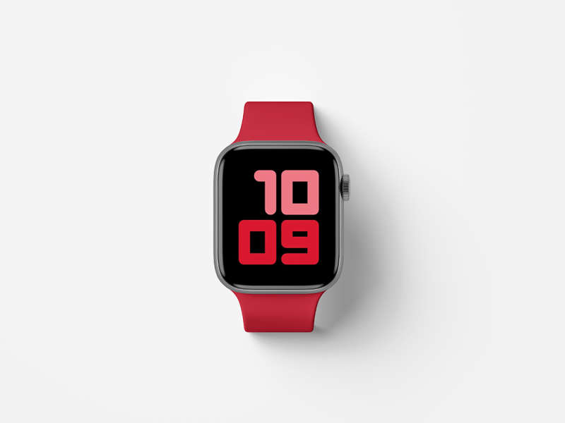 Top View Apple Watch Series 5 Mockup by Anthony Boyd Graphics