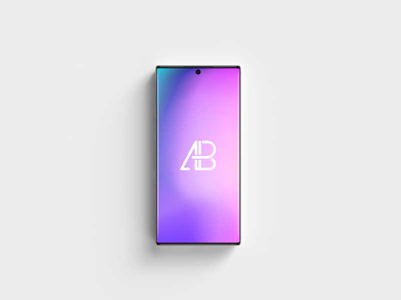 Samsung Galaxy Note 10 Pro Top View Mockup by Anthony Boyd Graphics