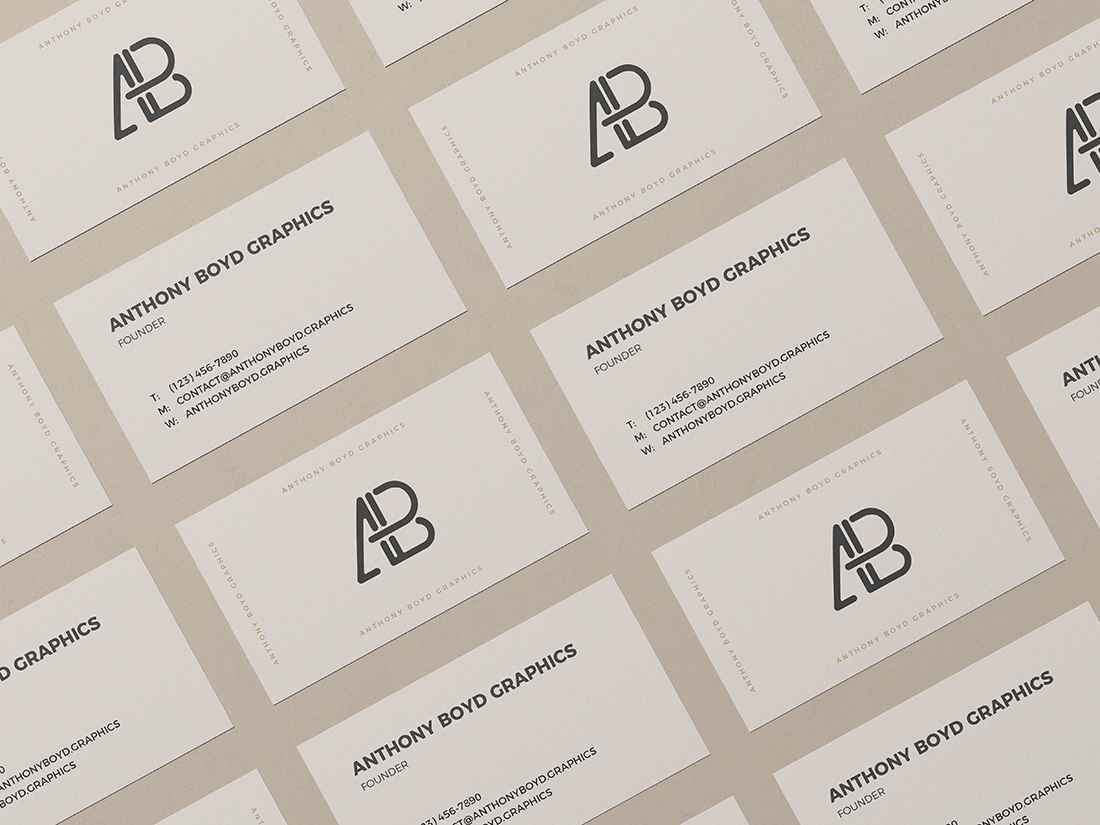 Business Card Grid Mockup Vol.2 by Anthony Boyd Graphics