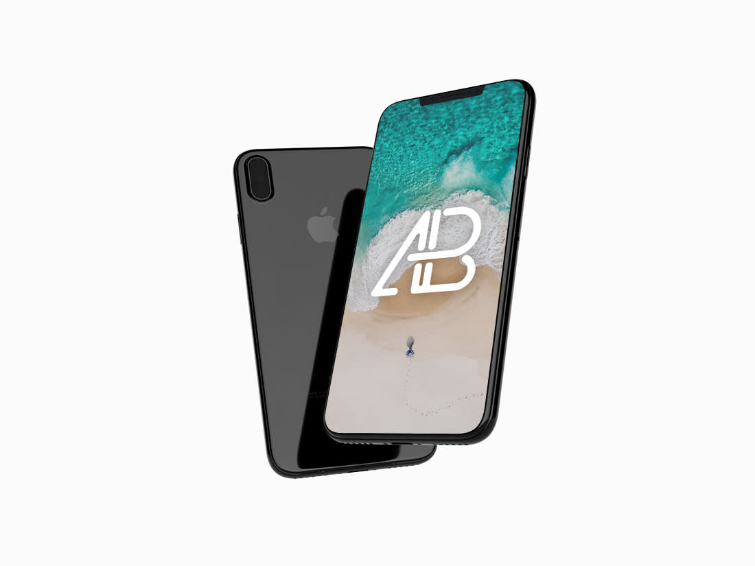 Floating iPhone X Mockup by Anthony Boyd Graphics