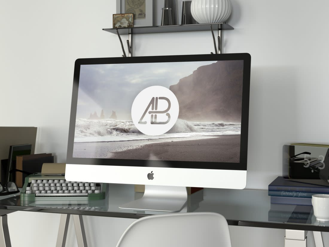 Realistic 5k iMac Mockup Vol.2 by Anthony Boyd Graphics