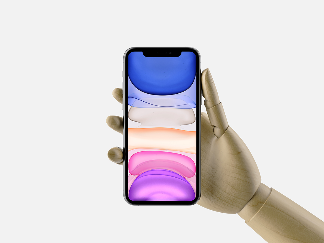 Hand Holding iPhone 11 Pro Max Mockup by Anthony Boyd Graphics