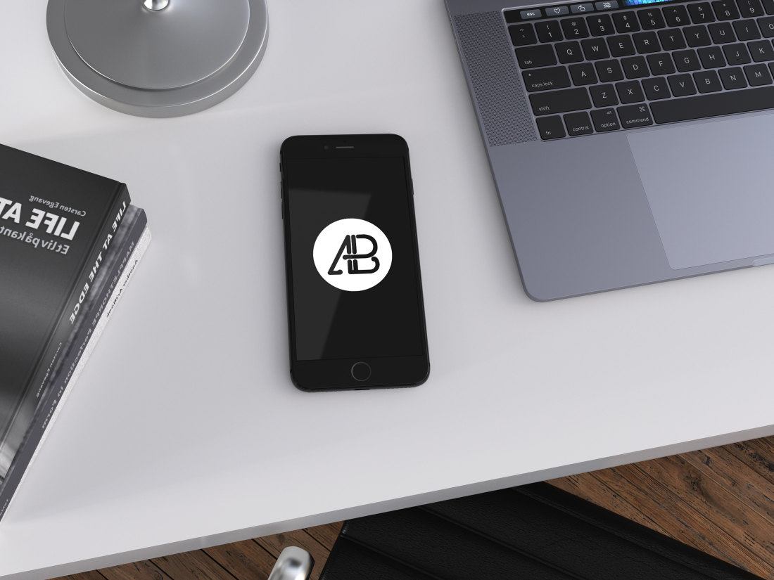 Realistic jet Black iPhone 7 Plus Mockup Vol.3 by Anthony Boyd Graphics