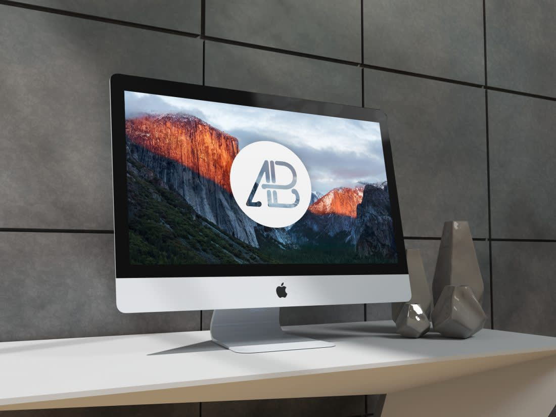 Realistic 5k iMac Mockup by Anthony Boyd Graphics
