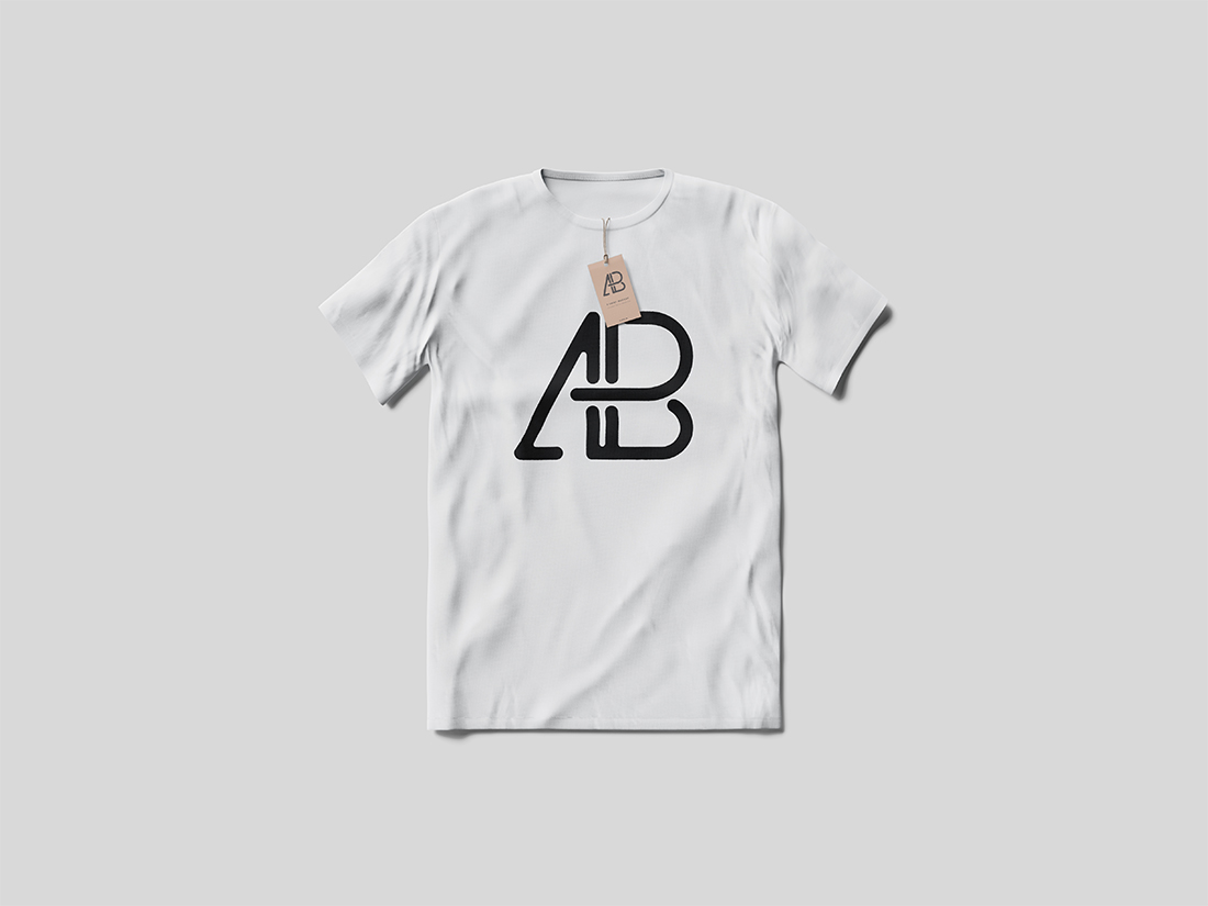 T-Shirt With Tag Mockup by Anthony Boyd Graphics