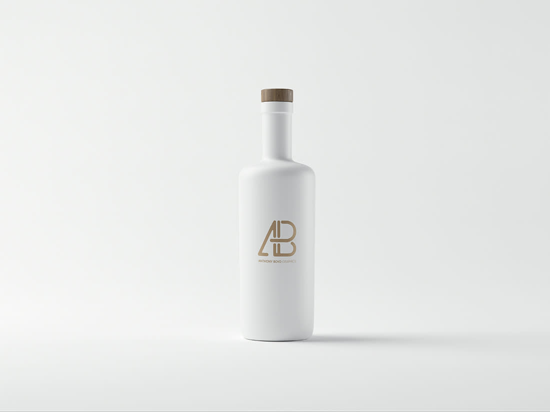 Matte White Bottle Mockup by Anthony Boyd Graphics