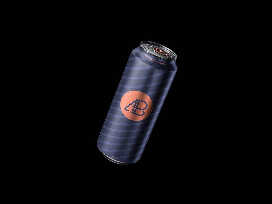Floating Can Mockup by Anthony Boyd Graphics