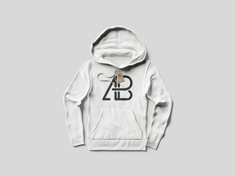 Hoodie With Tag Mockup by Anthony Boyd Graphics