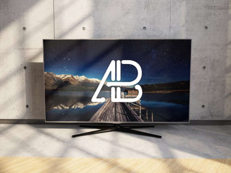 Realistic 4k TV Mockup by Anthony Boyd Graphics
