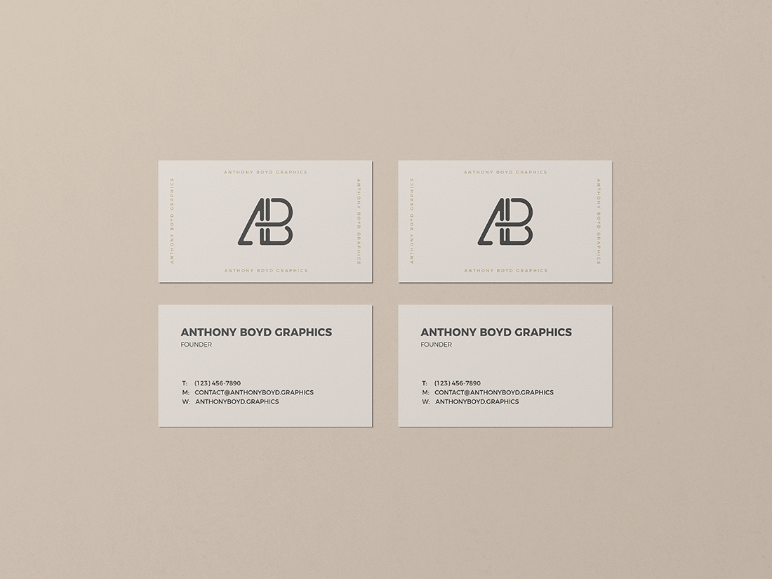 Business Card Mockup Vol.4 by Anthony Boyd Graphics