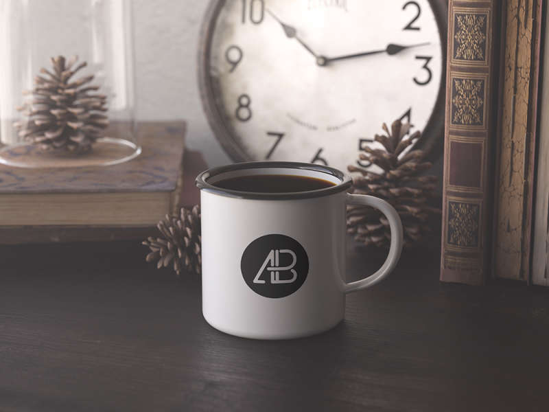 Enamel Mug Mockup by Anthony Boyd Graphics