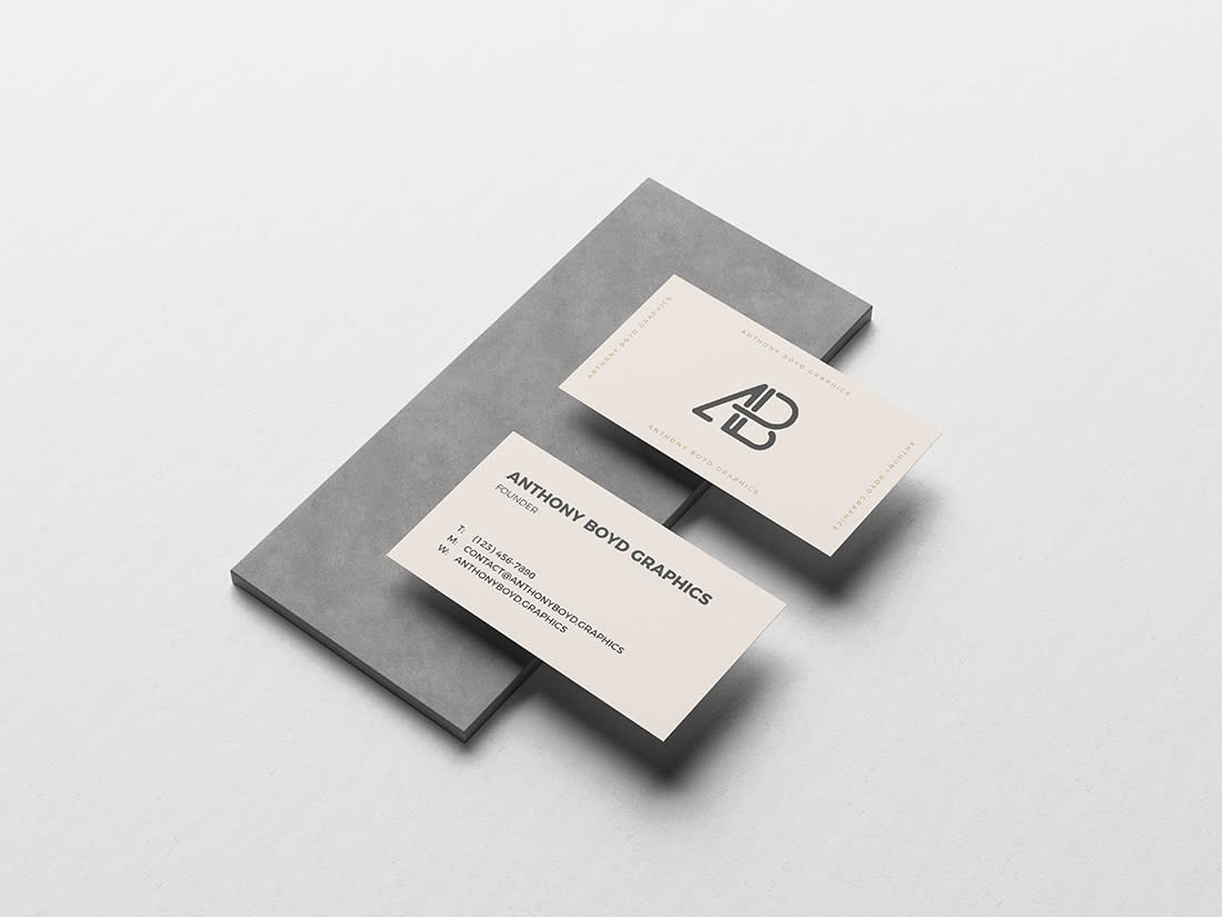 Business Card On Board Mockup by Anthony Boyd Graphics