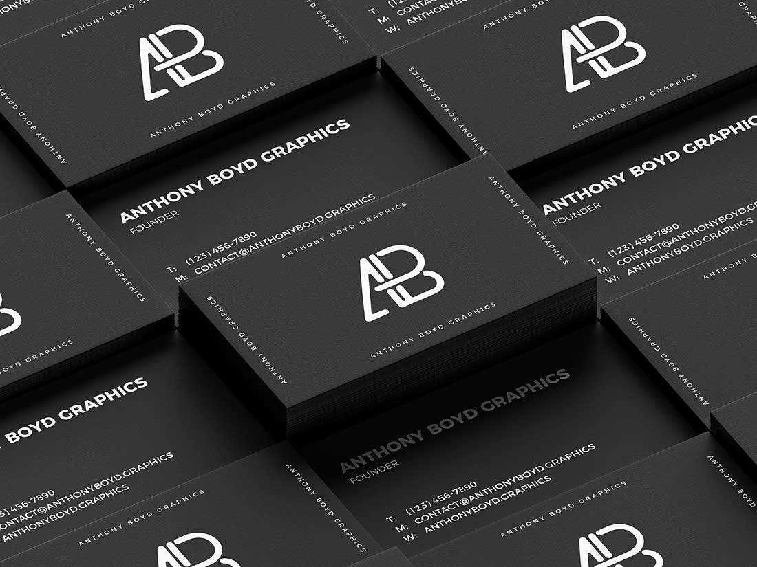 Business Card Grid Mockup Vol 3 by Anthony Boyd Graphics